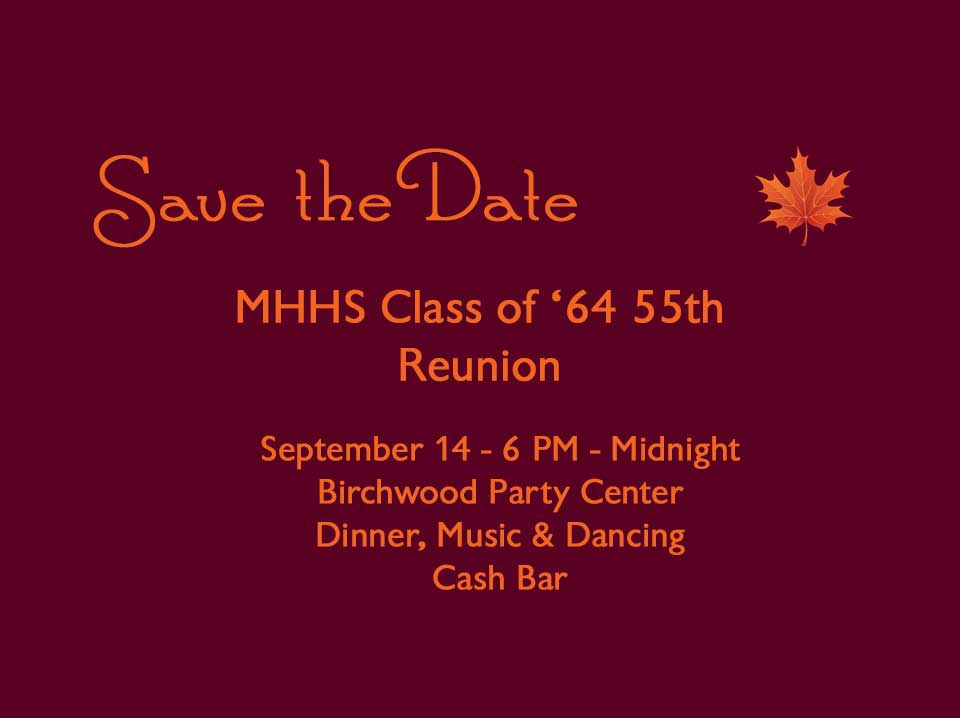 save the date info card